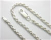 Sterling Silver Rope Chain (17-18)