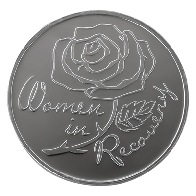 Women In Recovery Rose inspirational aluminum coin