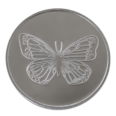 Aluminum Butterfly Coin with Serenity Prayer on the back