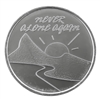 Never Alone Again Aluminum Recovery Coin