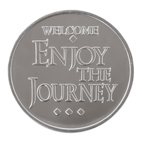 Welcome Enjoy the Journey Aluminum Coin