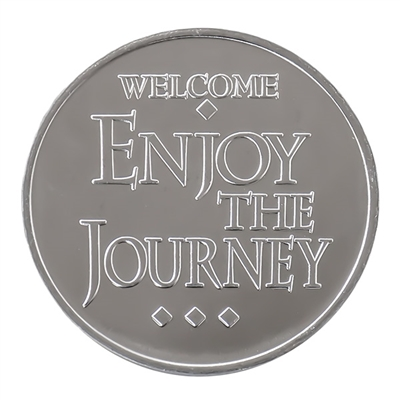 Welcome Enjoy the Journey Aluminum Recovery Coin