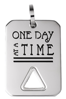 Stainless Steel - Serenity Prayer Key Ring