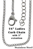 18 inch Stainless Steel Ladies Curb Chain