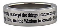 Stainless Steel -Serenity Prayer Ring