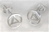 Sterling Silver - AA Circle Triangle Logo - Post Earrings (pair)