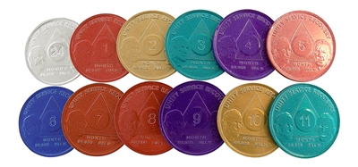 AA Founders Aluminum Anniversary Coins