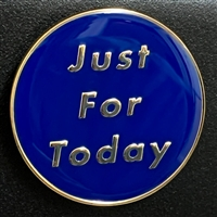 The Just For Today Blue and Silver Medallion Magnet | $3.50 each | Featuring the NA 3rd Step Prayer