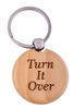Recovery Emporium, RecoveryShop's - Turn It Over Wooden Engraved Swivel Key Tag or Key Chain