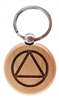 RecoveryShop - AA Circle Triangle Logo - Engraved Key Tag or Key Chain