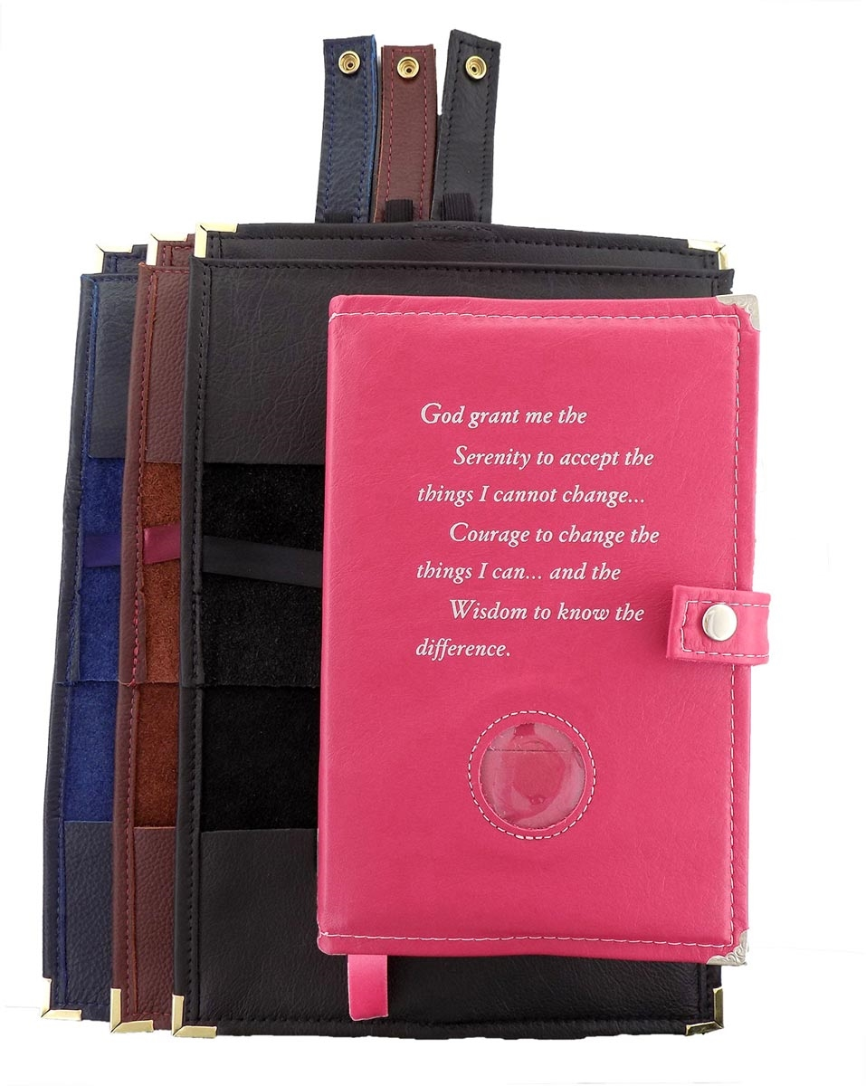 Leather Double Book Cover Alcoholics Anonymous Recoveryshop