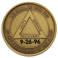Custom Engraved Fellowship of the Spirit Bronze Inspirational Medallion