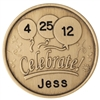Engraved AA Coin - Celebrate -  on the back