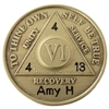 AA Custom Engraved Coin featuring an Anniversary Date by Recovery Emporium - Recovery Shop