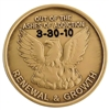 Out of the Ashes - Phoenix Recovery, Renewal, Bronze AA Coin or Medallion
