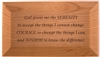 "Custom Engraved - REâ""¢ - Serenity Prayer God Box"