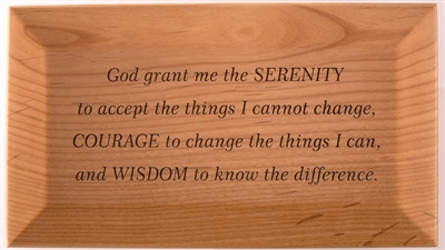 Custom Engraved - Serenity Prayer God Box