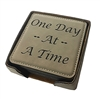 Engraved Recovery Slogan Coaster Set