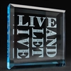 Live And Let Live Glass Paper Weight