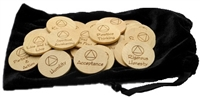 Custom laser engraved AA Meeting Topic Wooden Chips