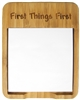 Custom Engraved Bamboo Sticky Note Holder with Recovery Program Slogan Fist Things first