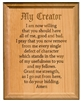 "AA 7th Step Prayer 7"" x 9"" Laser Engraved Alder Wood Plaque"