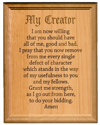 AA 7th Step Prayer Plaque