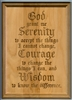 "Laser Engraved Serenity Prayer 5"" x 7"" Alder Wood Plaque"