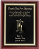 AA Thank you for Sharing Plaque - Laser Engraved Metal Plate on Mahogany