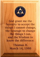 "5"" x 7"" Custom Serenity Prayer Wall Medallion Holder Plaque"