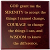 Laser Engraved - Serenity Prayer - Medallion Holder Wooden Box