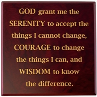 Serenity Prayer Medallion Holder Box