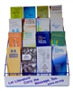 "AA PAMPHLETS - Display Rack - Wire - BLUE features the message: "" Let the Literature Carry the Message too."""