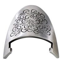Pewter - Recovery Medallion Display Stand with scroll work