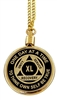 Top-Screw 24 Inch Gold Plated Chain or Necklace Medallion Holder