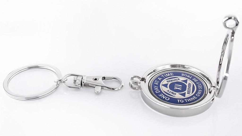 0555efcb443 Medallion Holder - Short Key Ring - Recovery Emporium