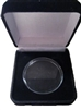Black Velvet Medallion Holder Box w/ Clear Acrylic Capsule