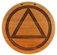 Laser Engraved Alder Wood AA Logo Meeting Sign