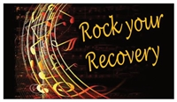 Rock Your Recovery Refrigerator Magnet