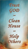 Trust God, Clean House, Help Others Recovery Magnet