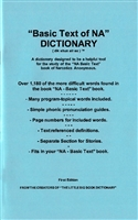 NA Basic Text Dictionary - Paperback Booklet | Created by Recovery Emporium