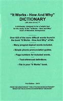 NA It Works-How and Why Dictionary - Paperback Booklet | Created by Recovery Emporium