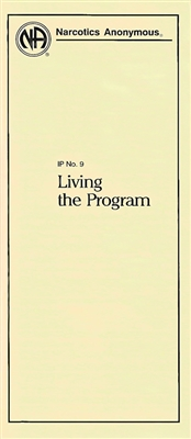 NA Pamphlet - IP No. 9 - Living the Program - Front