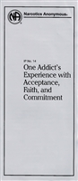NA Pamphlet 14 One Addicts's Experience Front