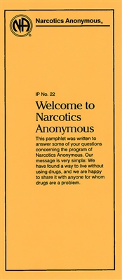 NA Pamphlet IP - 22 - Welcome to Narcotics Anonymous Front - Recovery Shop