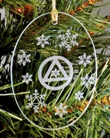 Laser Engraved AA-Logo Holiday Ornament