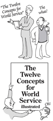 The Twelve Concepts Illustrated for AA Pamphlet.