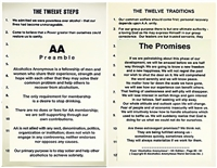 Recovery Posters - Alcoholics Anonymous | RecoveryShop