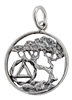 Sterling Silver AA Logo Tree of Life Pendant