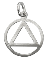 Sterling Silver - Medium Flat AA Logo Pendant